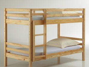 Κουκέτα / δίκλινο κρεβάτι, μασίφ πεύκο MAYSAR
