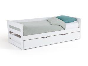Κρεβάτι με δεύτερο συρόμενο κρεβάτι από ξύλο πεύκου, ELLIS