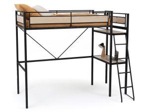 Κρεβάτι κουκέτα με τάβλες και γραφείο, Hiba