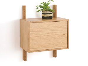 Επίτοιχο ντουλάπι από ξύλο δρυ με 1 πόρτα, Badis
