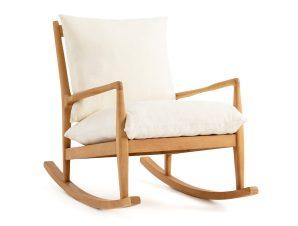 Κουνιστή πολυθρόνα με λινή ταπετσαρία, Dilma